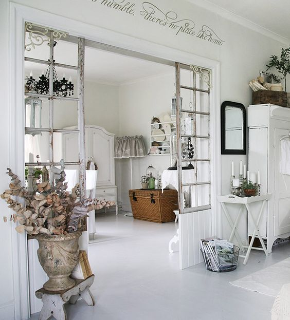 Idee per dividere o separare un 39 ambiente in stile shabby for Arredamento rustico italiano