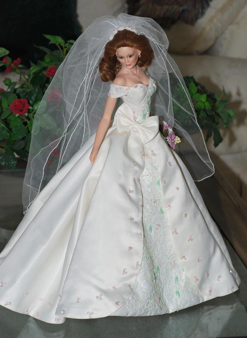 """Vineyard Bride Series:""""Country Church In Sonoma"""" by Cindy McClure 2004 reproduced by the Ashton Drake Galleries"""