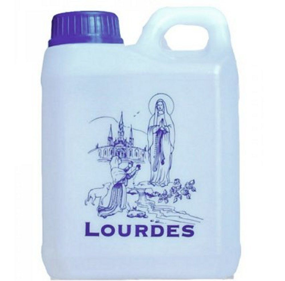 Lourdes Holy Water In 1 Liter Container Holy Water Water Containers Prayer Cards
