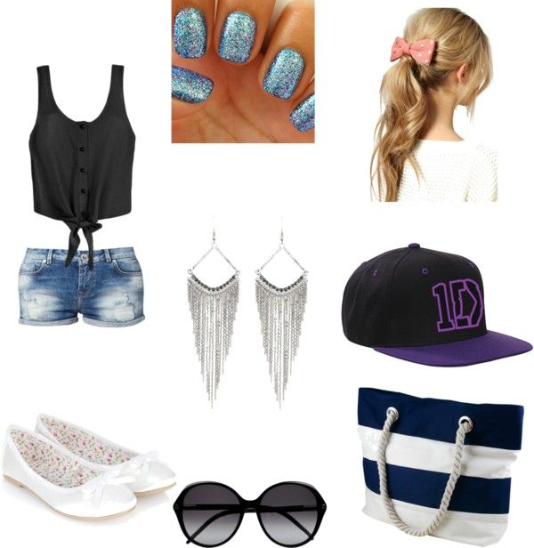"""Tenue été"" by laureen-styles ❤ liked on Polyvore"