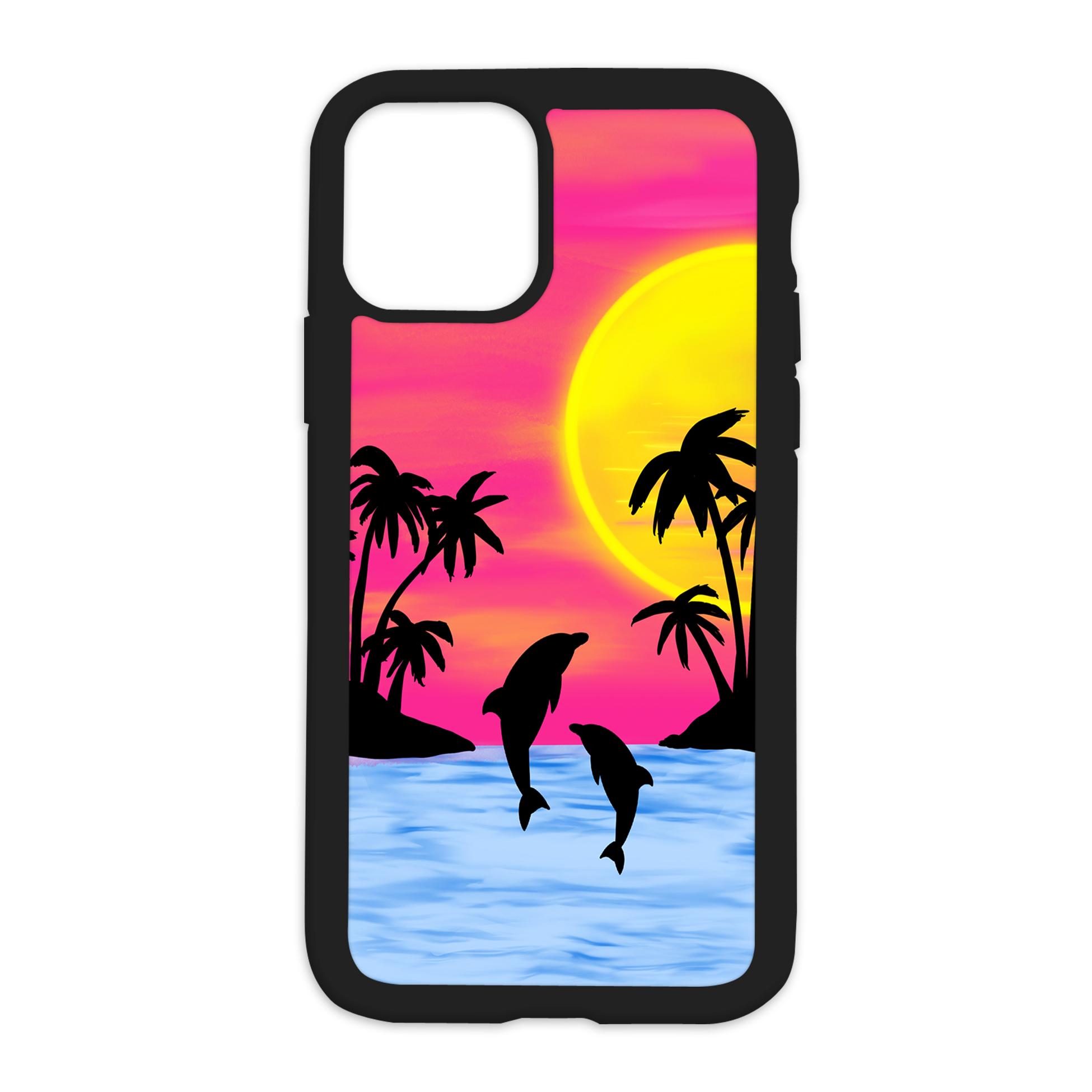 Sunset Vibes Design On Black Phone Case - 6/6s
