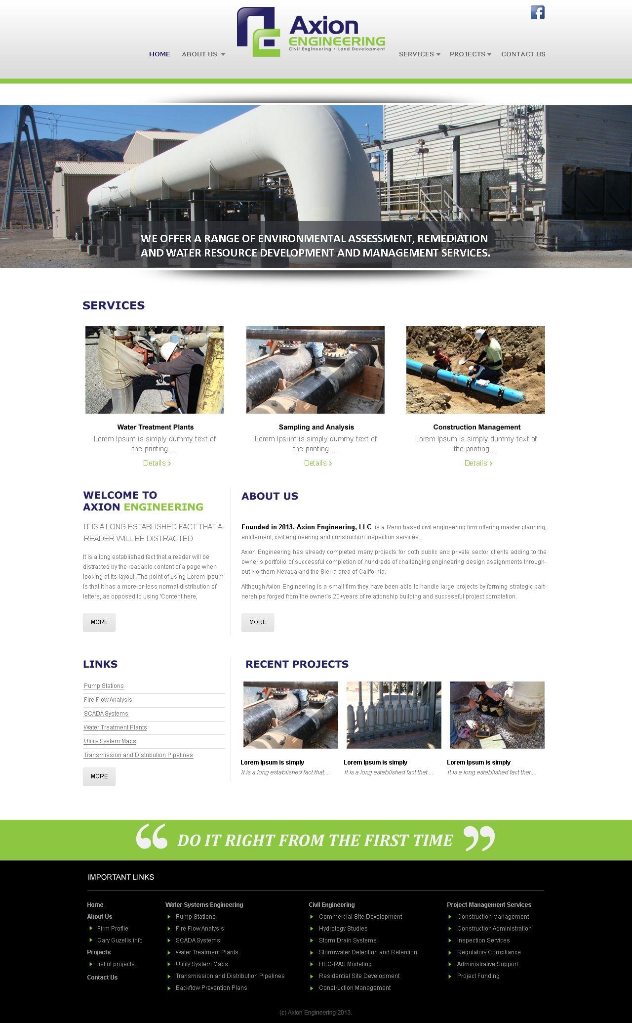 Engineering Website Design Website Design Service Projects Engineering