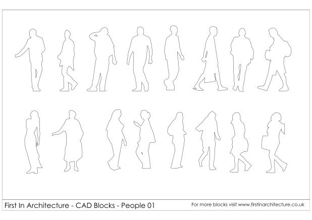 free cad blocks  u2013 people 01
