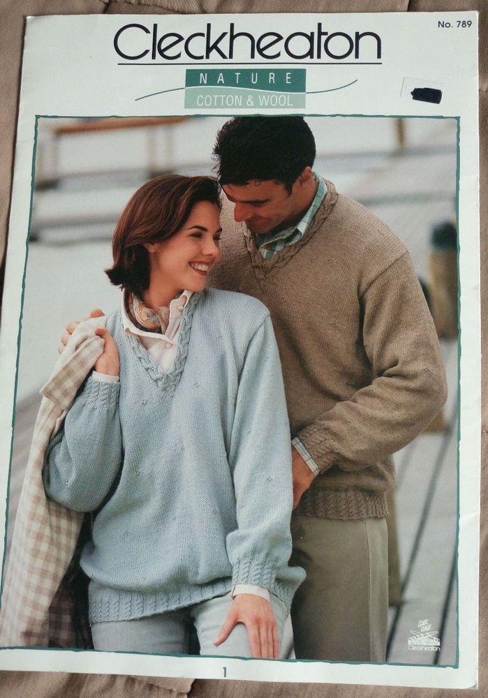 Women's & Men's knitting pattern 4 styles 8 ply DK yarn sweater ...