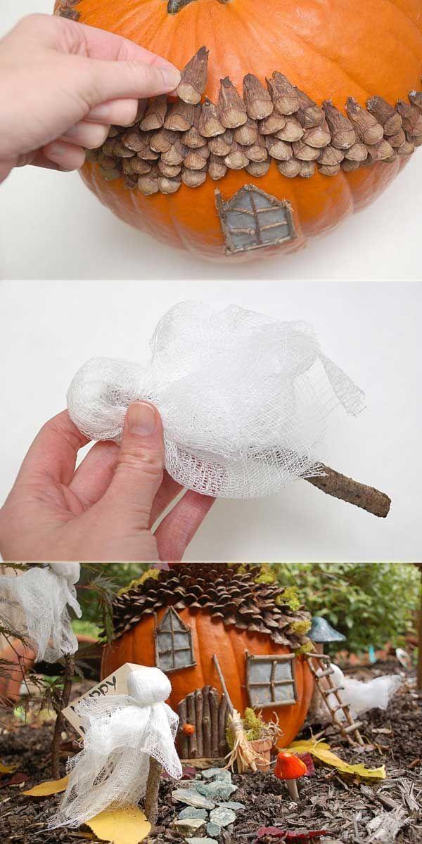 Kids Would Love To Bring Halloween Spirit To Your Outdoor S Fairy Garden Minigardens Bastelarbeiten Kinderbasteleien Halloween Basteln Mit Kindern