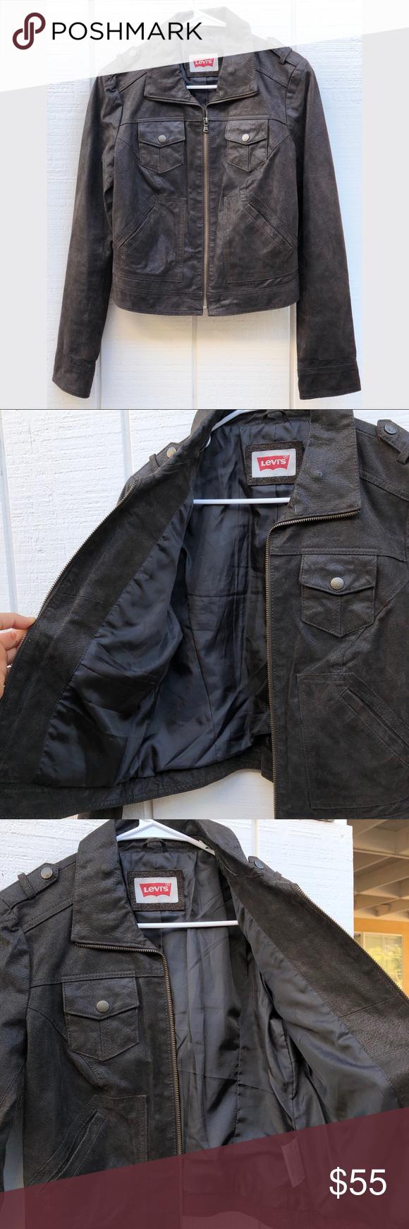 Like New Levi's Genuine Leather Jacket Clothes design