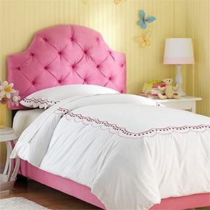 Hot Pink Tufted Full Bed Upholstered Headboard And Frame Home