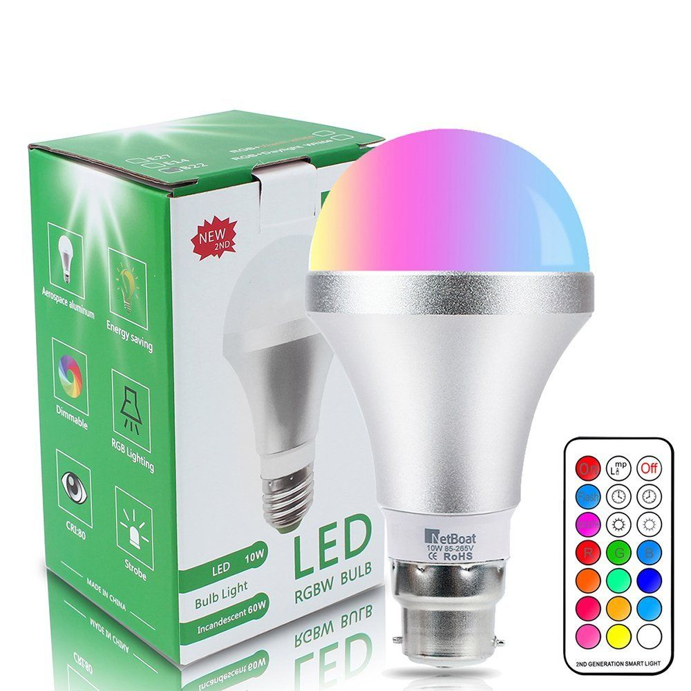 Colour Changing Bulb B22 10w Dimmable Rgbw Led Light Bulbs Mood Lighting With 21key Led Light Bulbs Bulb Light Bulbs