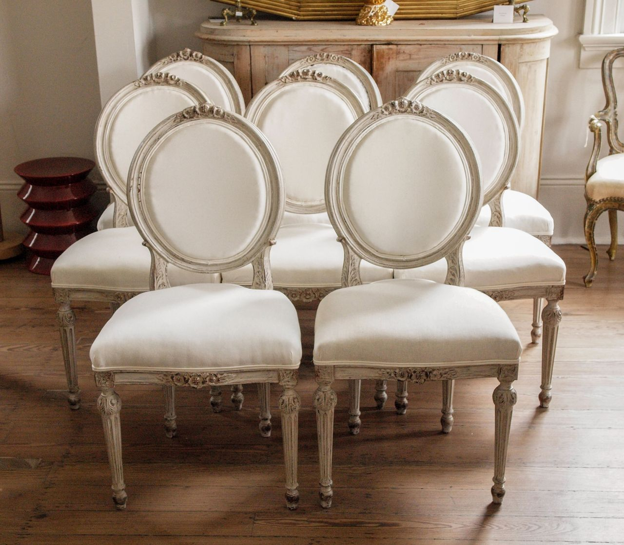 gustavian furniture | Swedish Gustavian Dining Chairs at 1stdibs