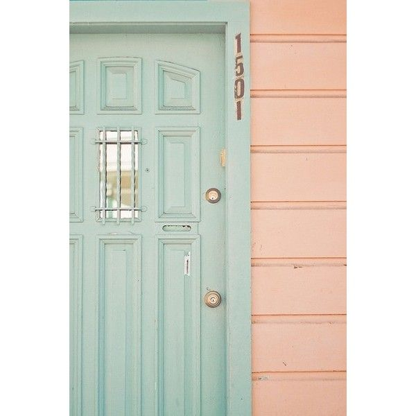 Door Colors colours doors ❤ liked on Polyvore