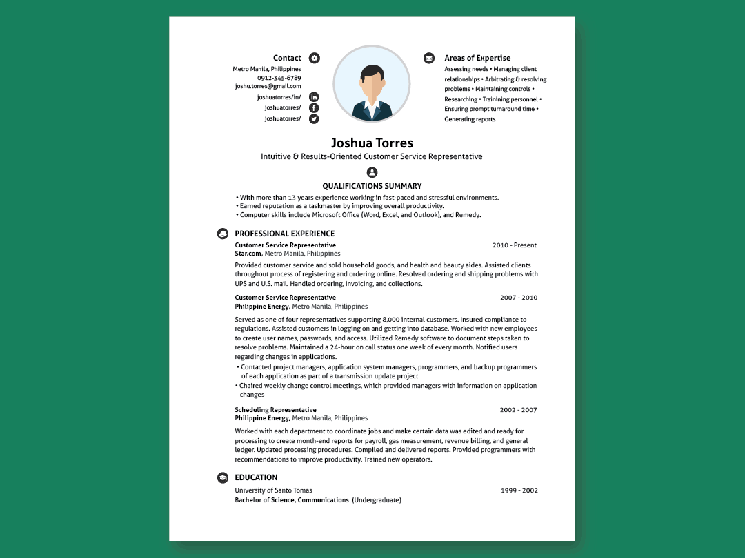 Modern Undergraduate Resume
