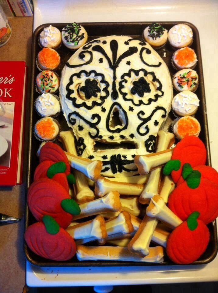 Halloween cake and cookies
