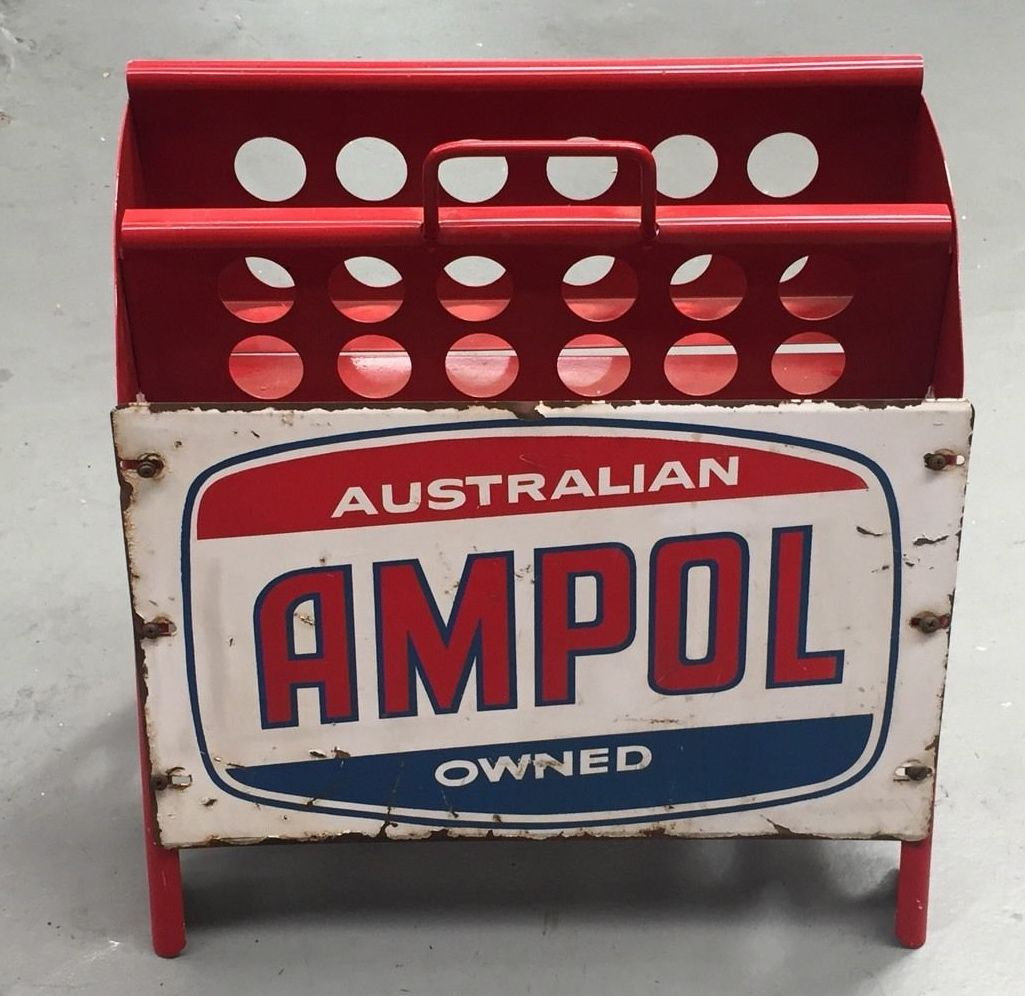 Ampol motor oil bottle rack