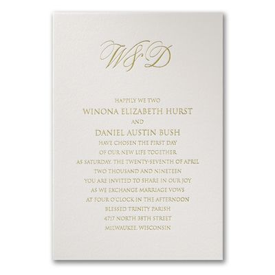 100 Cotton Wedding Invitations With Initials Partyblockinvitationsoccasions Sa