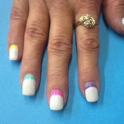Reverse French - nails by Amanda