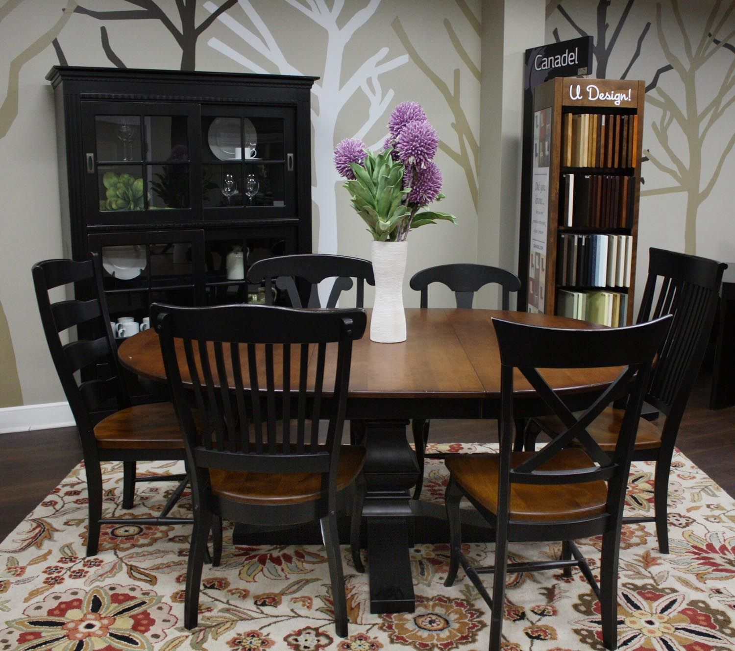 Canadel furniture dining table and chairs at Holman House ...