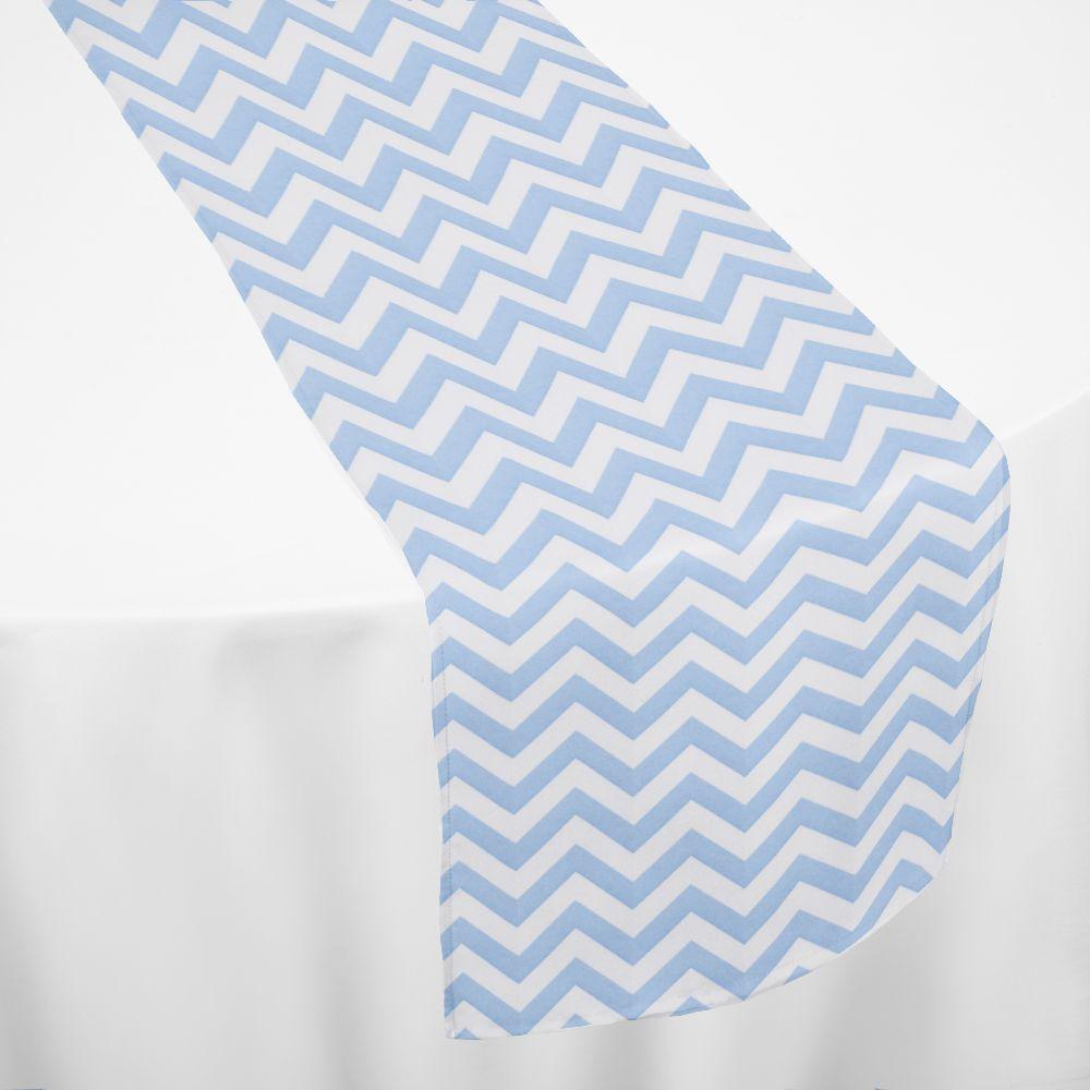 Light Blue Chevron Table Runner By Chair Covers U0026 Linens