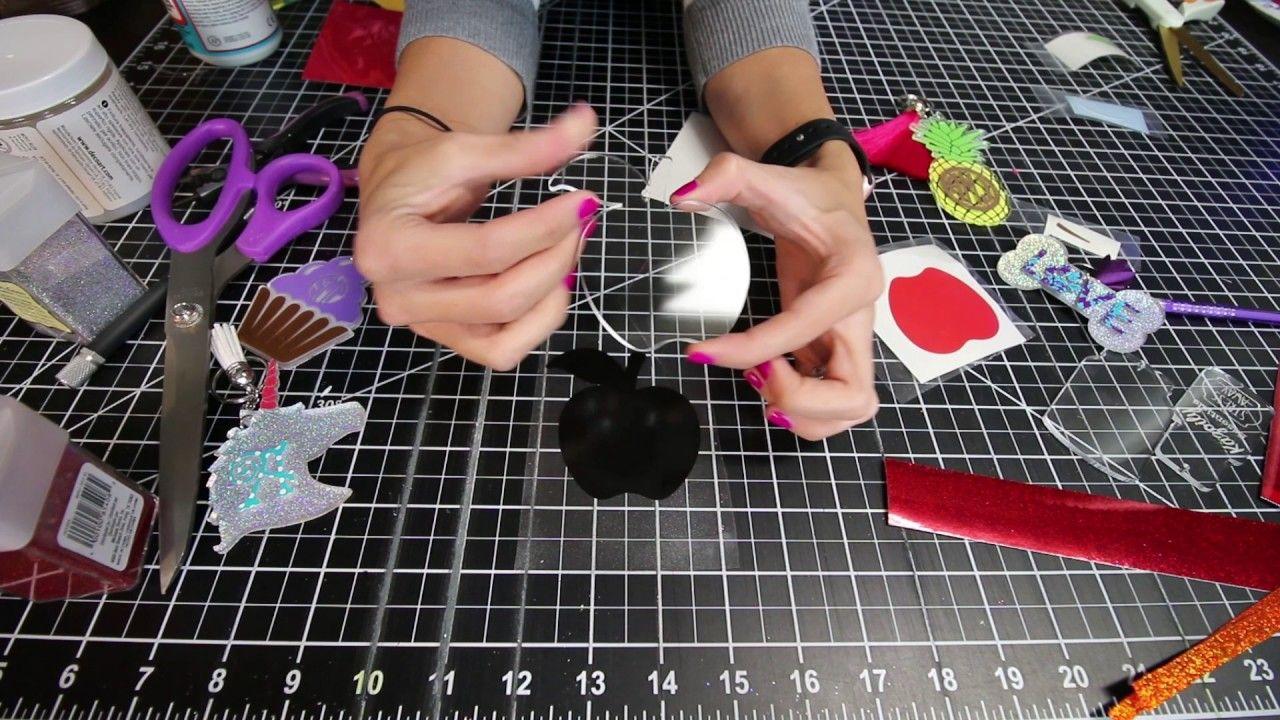 How to make an acrylic keychain using vinyl, acrylic