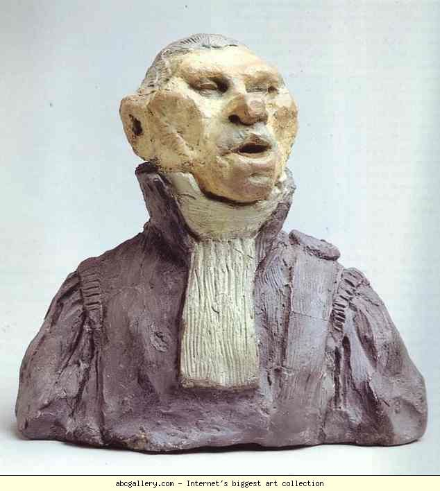 Honore Daumier. André-Marie-Jean-Jacques Dupin, Also Called Dupin the Elder (1783-1865), Deputy, Lawyer, Academician. 1832. Colored clay. Musée d'Orsay, Paris, France.
