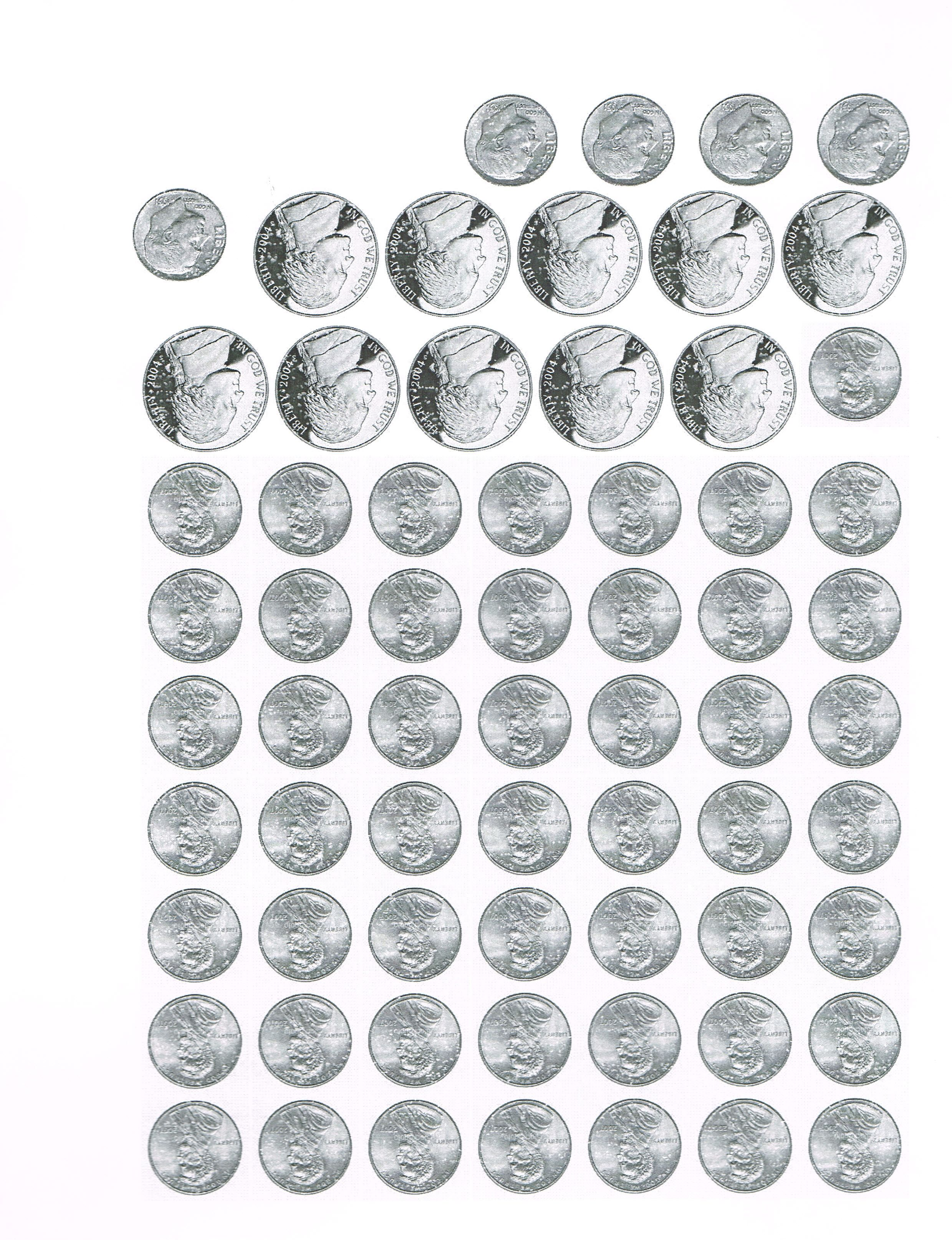 100 Days Pennies Nickels Dimes Penny Counting Money Printable Worksheets