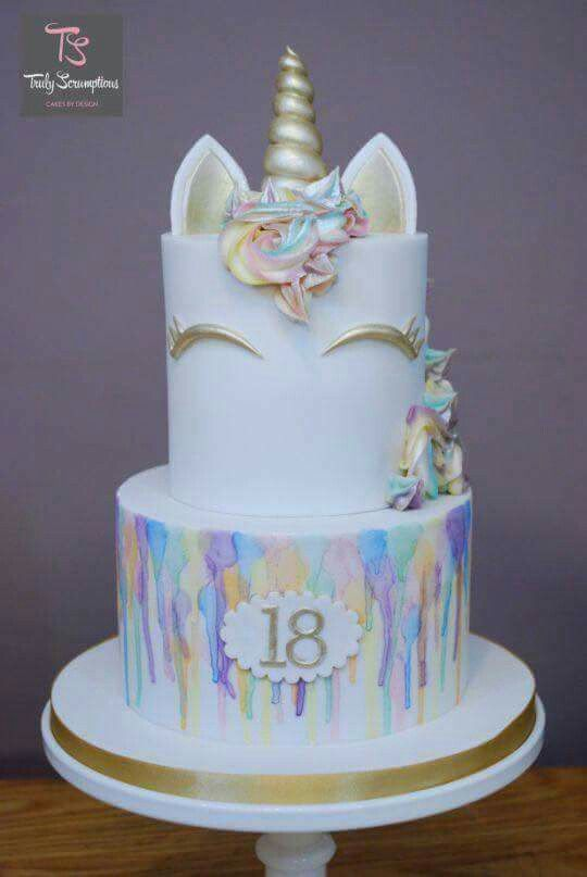 Pin by Laura St on torturi pt ziua mea Pinterest Unicorns Cake
