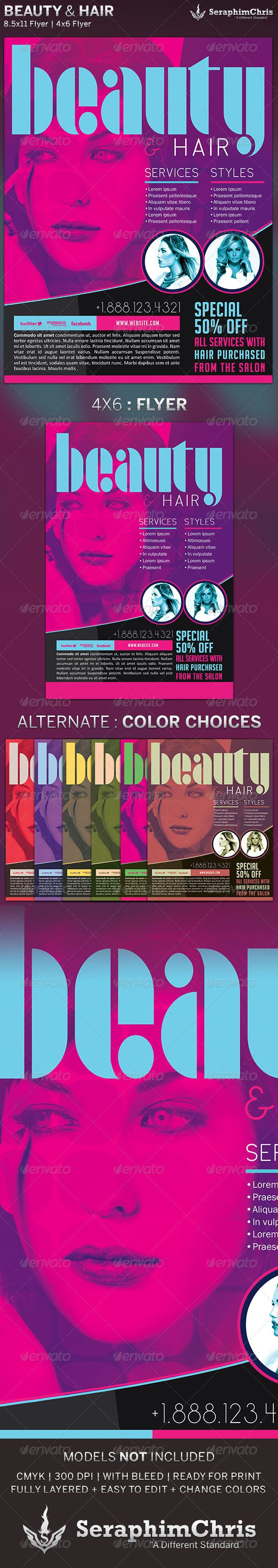 beauty hair s flyer template flyer template places and beauty hair s flyer template 6 00 is customized for hair events salons or