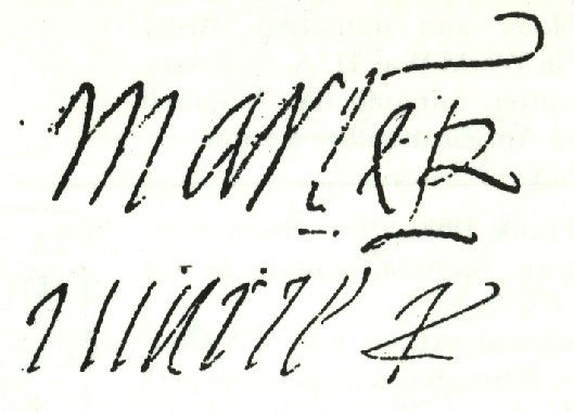 Mary queen of scots above her mother 39 s signature mary of for Tudor signatures