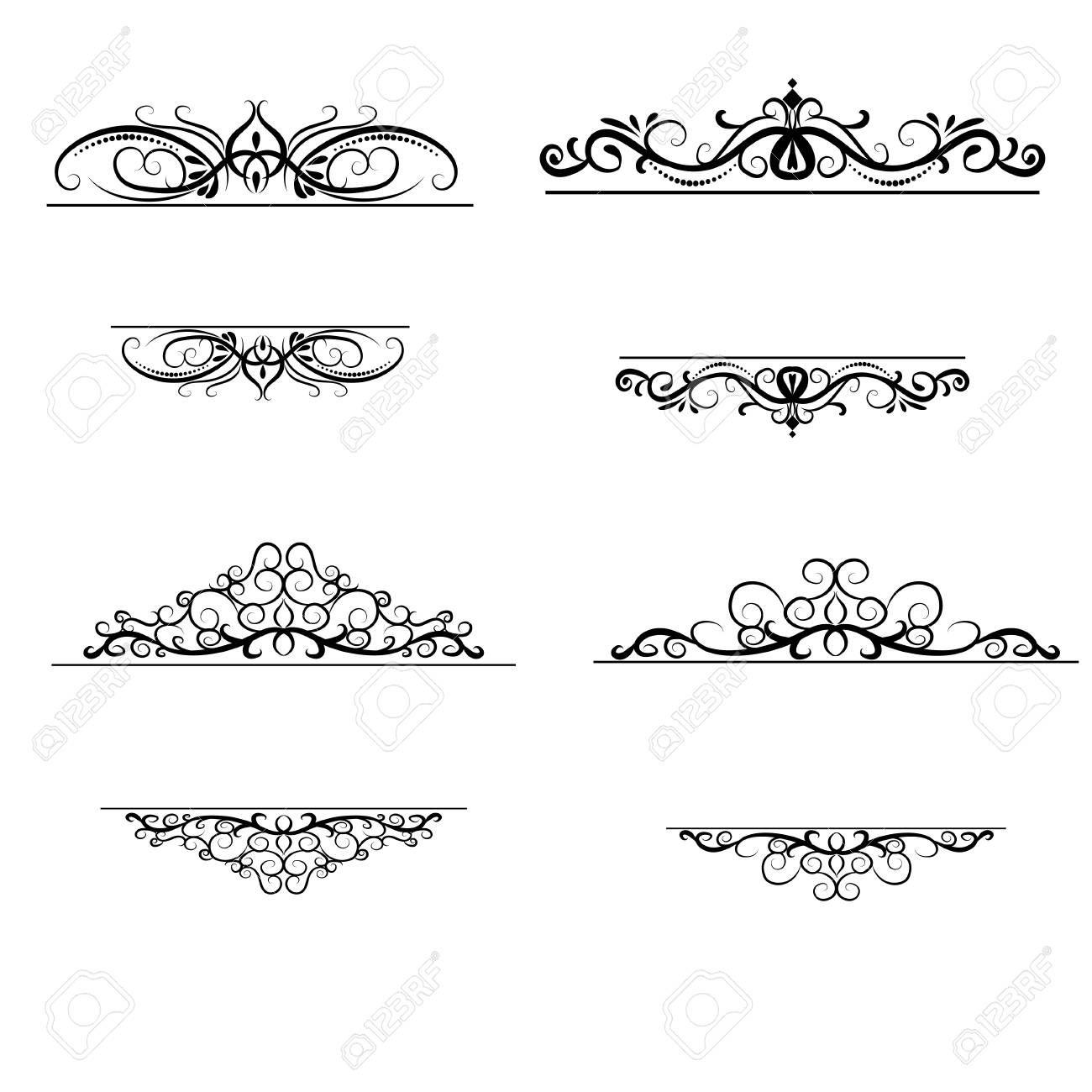 Vintage Vector Swirl Frame Set Sponsored Vector Vintage Swirl Set Frame In 2020 Design Art Graphic Design Graphic Design Art