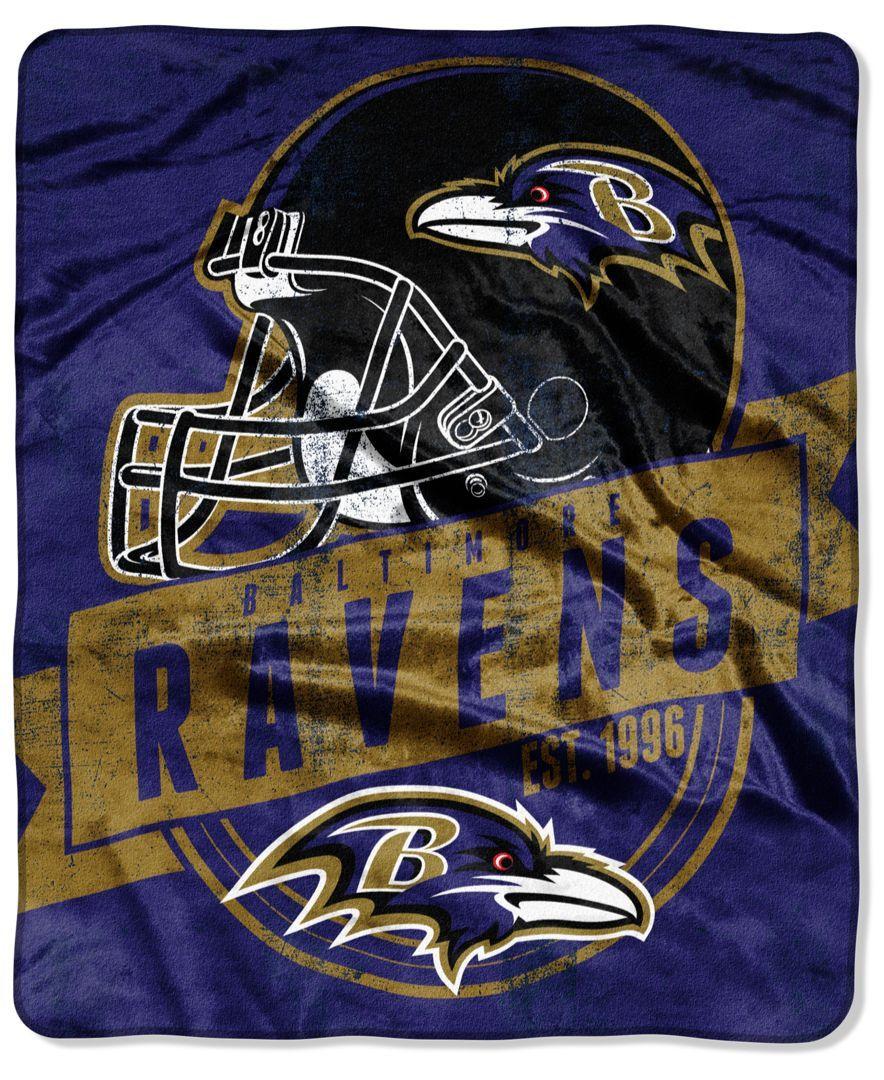 Northwest Company Baltimore Ravens Micro Raschel 12th Man Throw Blanket