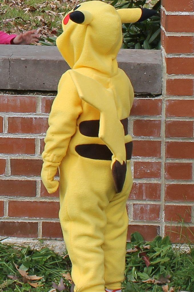 Pikachu Costume Back Pokemon Pikachu Kostüm Selber Machen