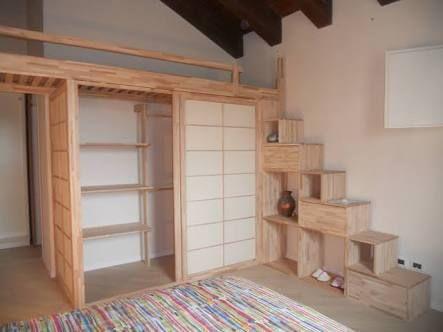 Cabina Armadio Con Letto : Resultado de imagem para letto a soppalco con cabina armadio