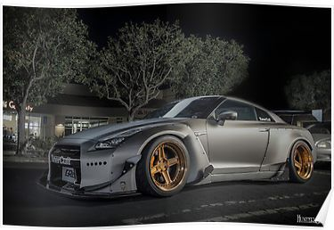 TunerCult Widebody Nissan GTR Poster Sports car brands