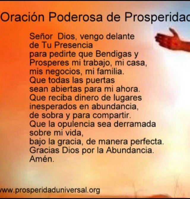 Oracion Poderosa De Prosperidad Oraciones Poderosas