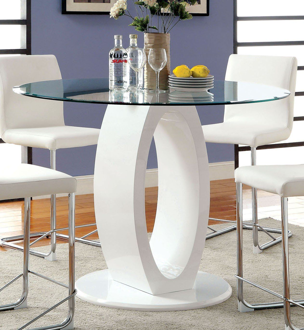 1035 6 7 For The Dining Room Round Counter Height Table