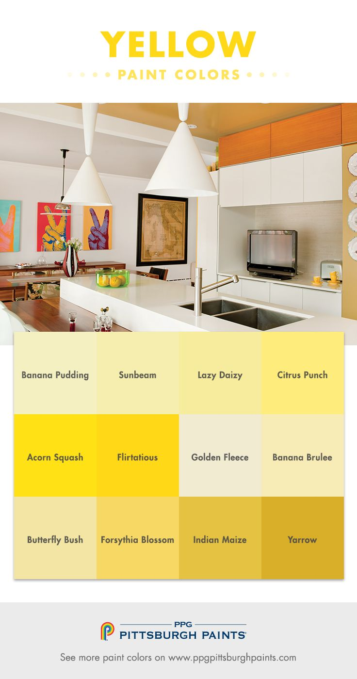 Yellow Paint Color Advice from PPG Pittsburgh Paints - Yellow paint ...