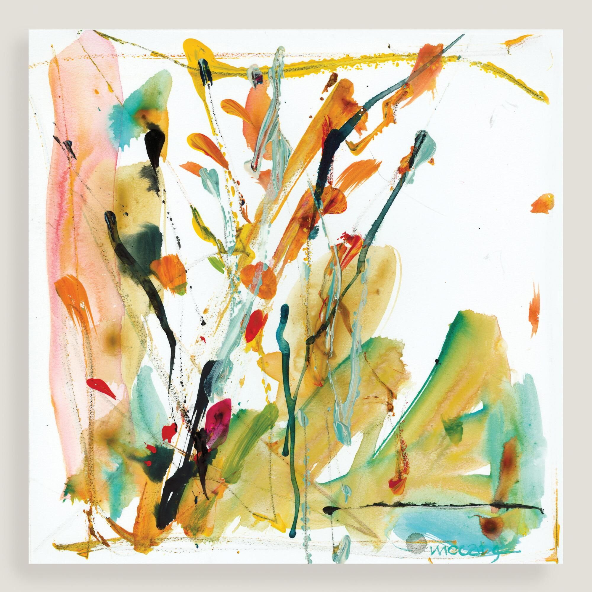 Lend dynamic style to your space with our bright, abstract wall art ...