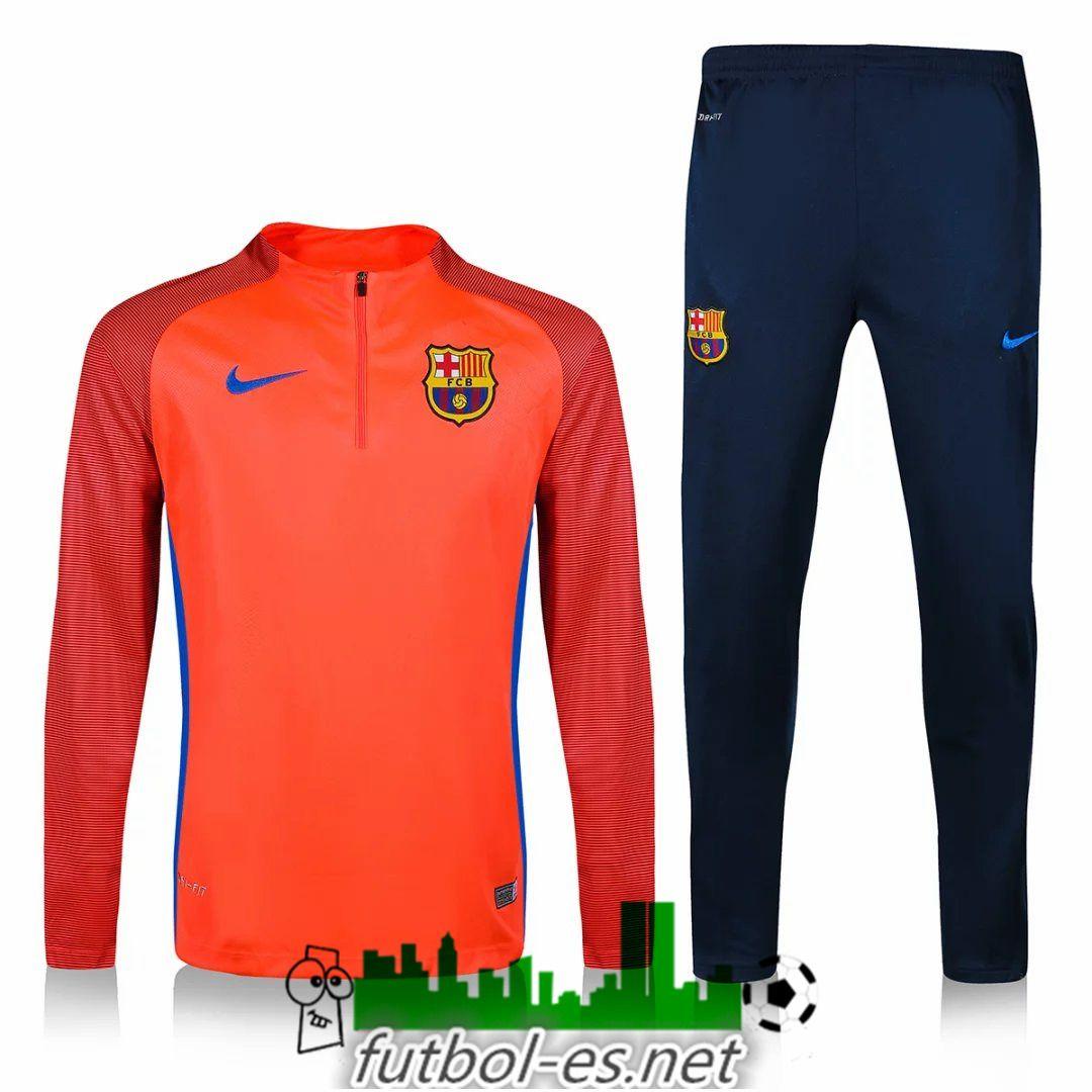 Compras Chandal de futbol FC Barcelona Impresion de naranja 2016 2017