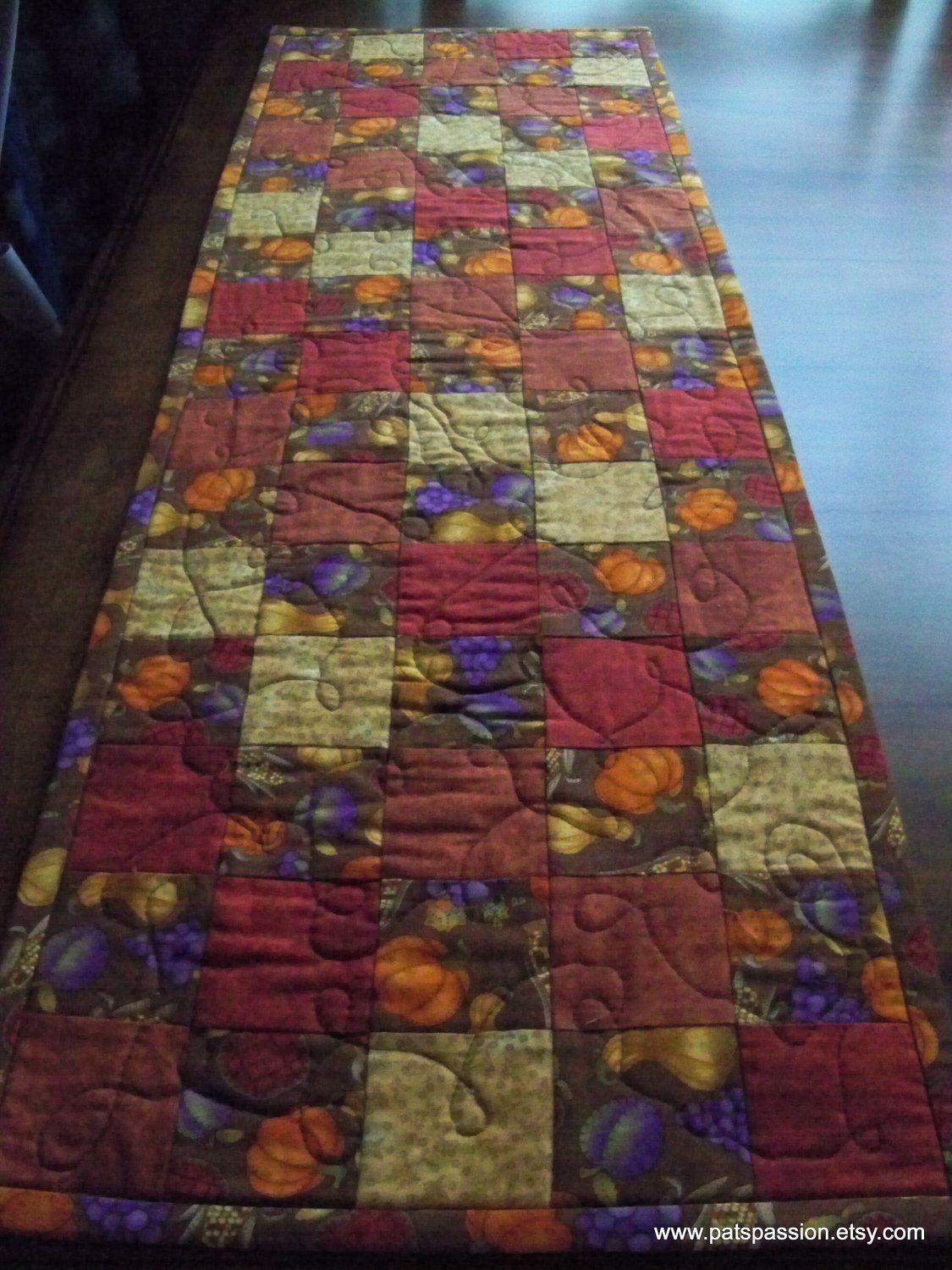 Fall Patchwork Table Runner