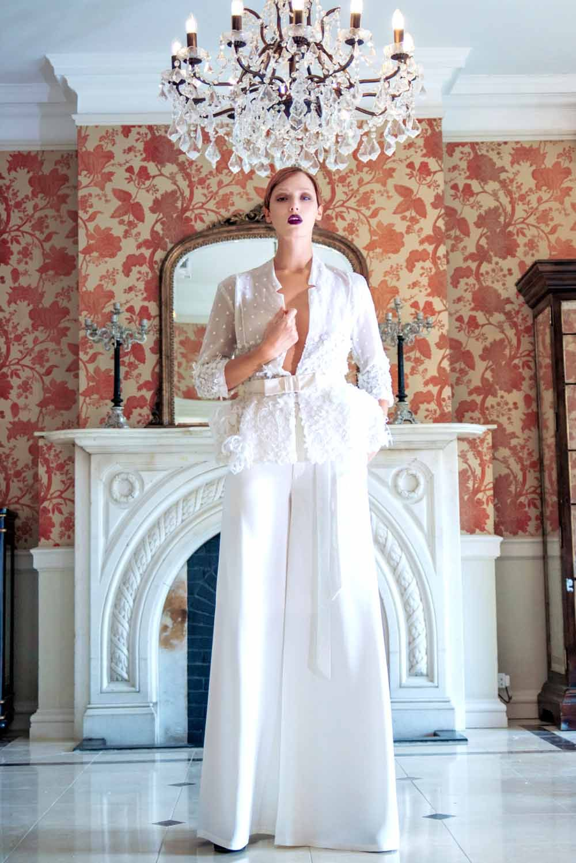 Sharon Bowen Dryden Haute Couture Wedding Dress Designer High - Custom Wedding Dress Designers