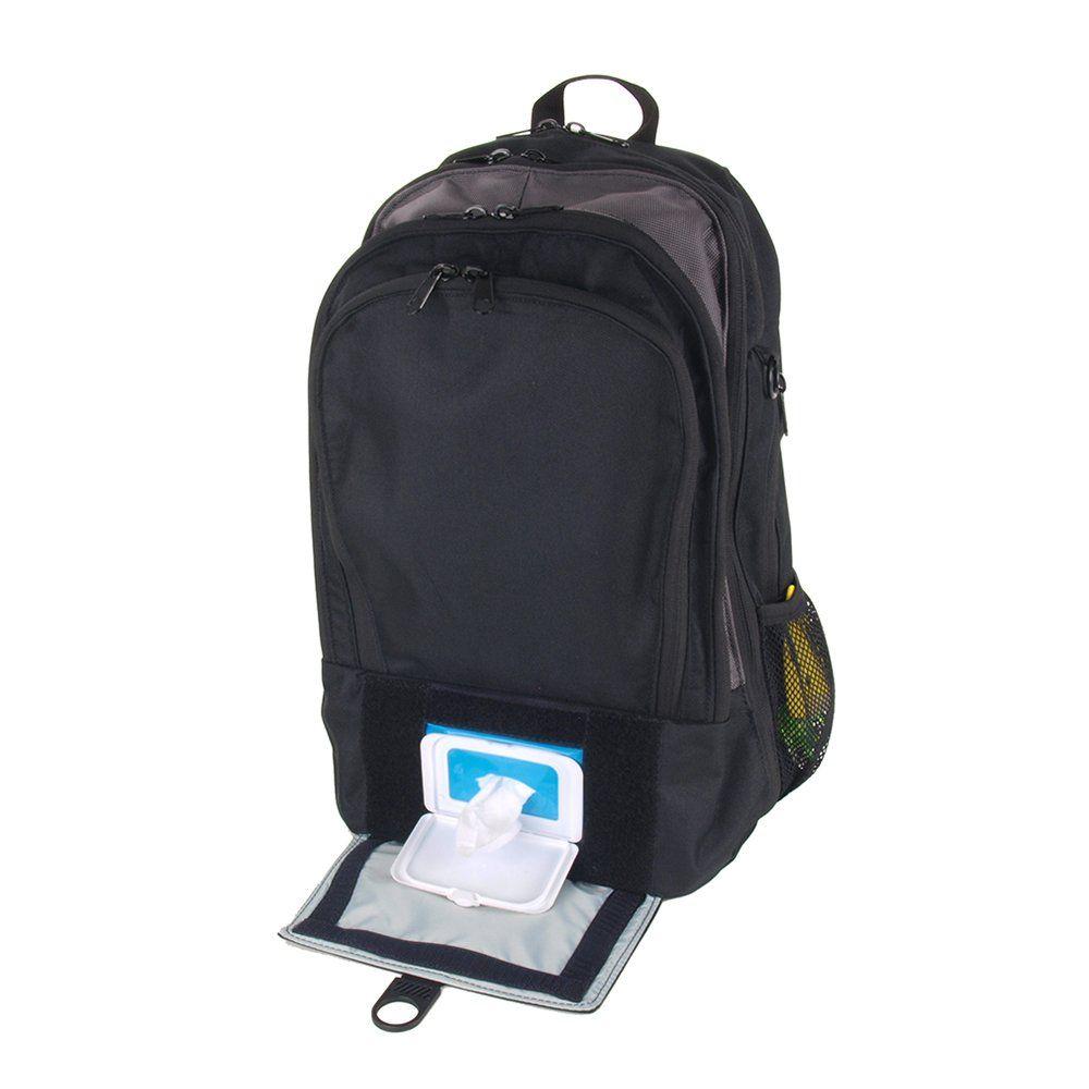 94aac3a77e8 Amazon.com   DadGear Backpack Diaper Bag - Black Retro Stripe   Diaper Tote  Bags   Baby