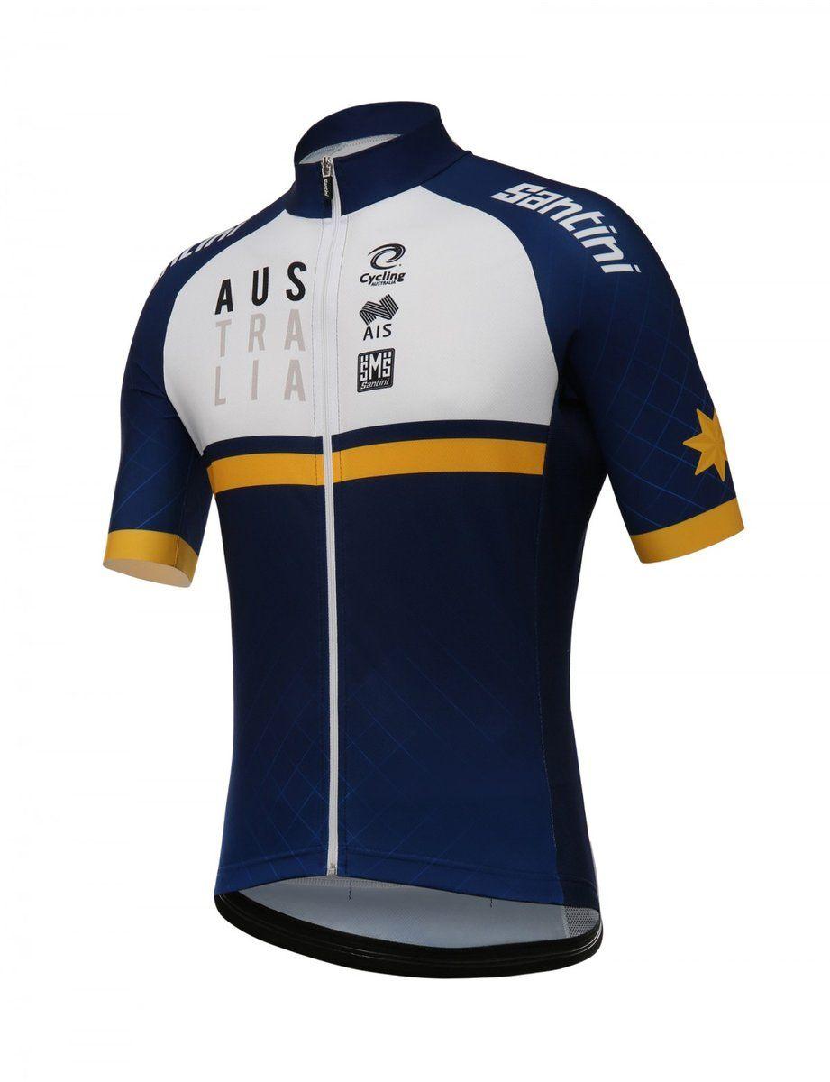 2018 Men S Cycling Australia Training Kit Short Sleeve Cycling Jersey By Santini Cycling Australia Cycling Outfit Mens Cycling