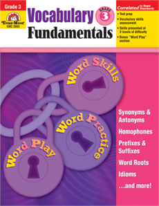 Vocabulary Fundamentals, Grade 3 - Teacher Reproducibles, Print