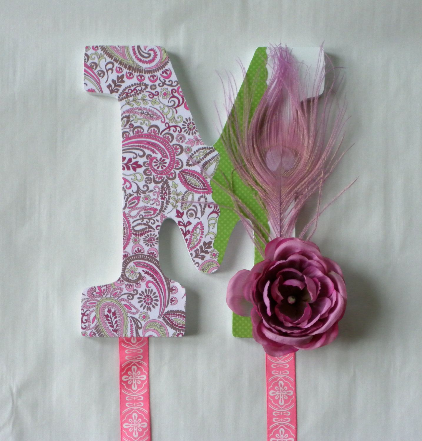 Custom Wooden Letter Hair Bow Holders Wall Hanging by LetterChic, $25.00