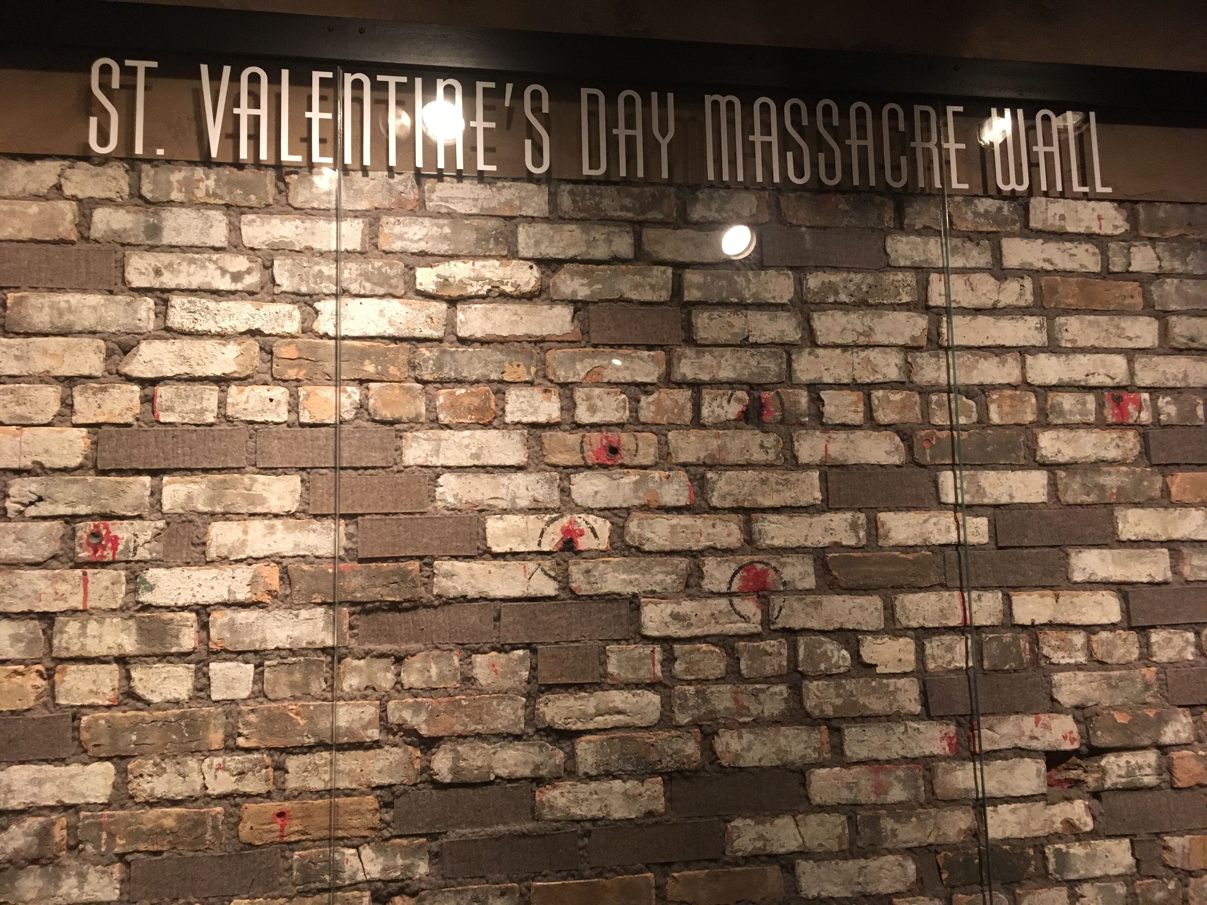 The Valentine S Day Massacre Wall Where Six Was Killed Now In The