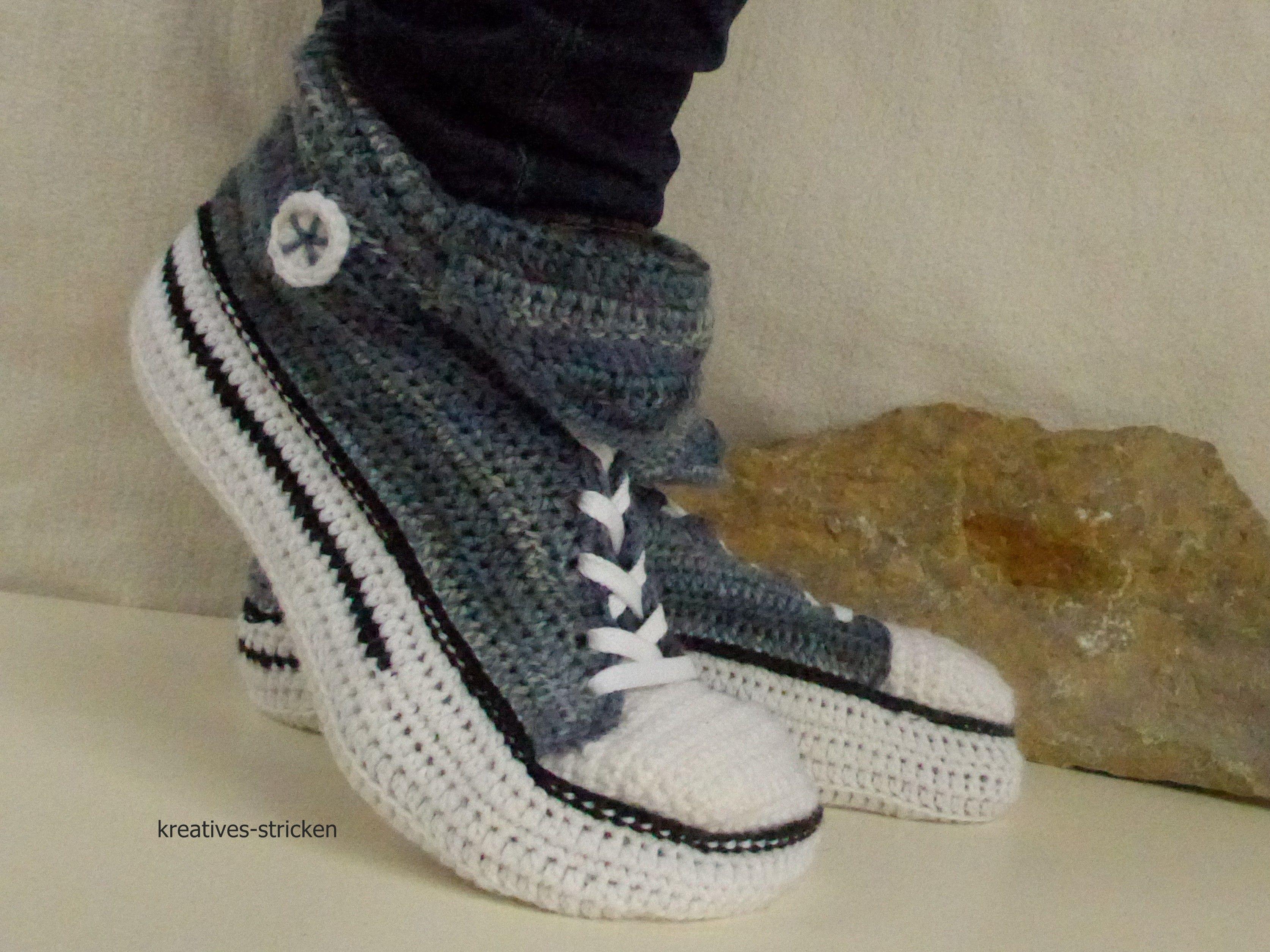 Pin Von Crazypatterns Auf Socken Häkeln Hausschuhe Häkeln