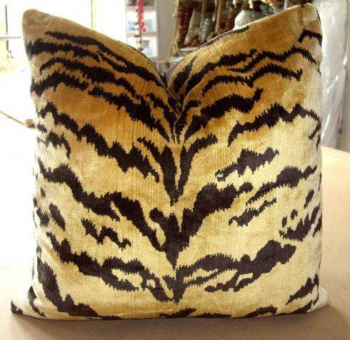 a fav. fabric -Scalamandre le tigre silk velvet-for accent pillow