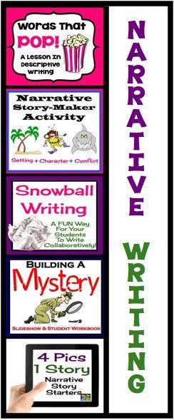 Narrative creative writing activities & assignments | 5th grade