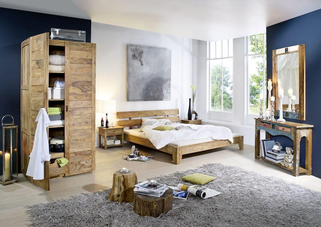Schlafzimmer aus massivem Sheesham, Palisander / Massivholzmöbel ...