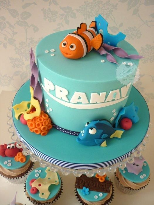 Finding Nemo Birthday Cake  Cupcakes Cake By Isabelle Bambridge - Finding nemo birthday cake