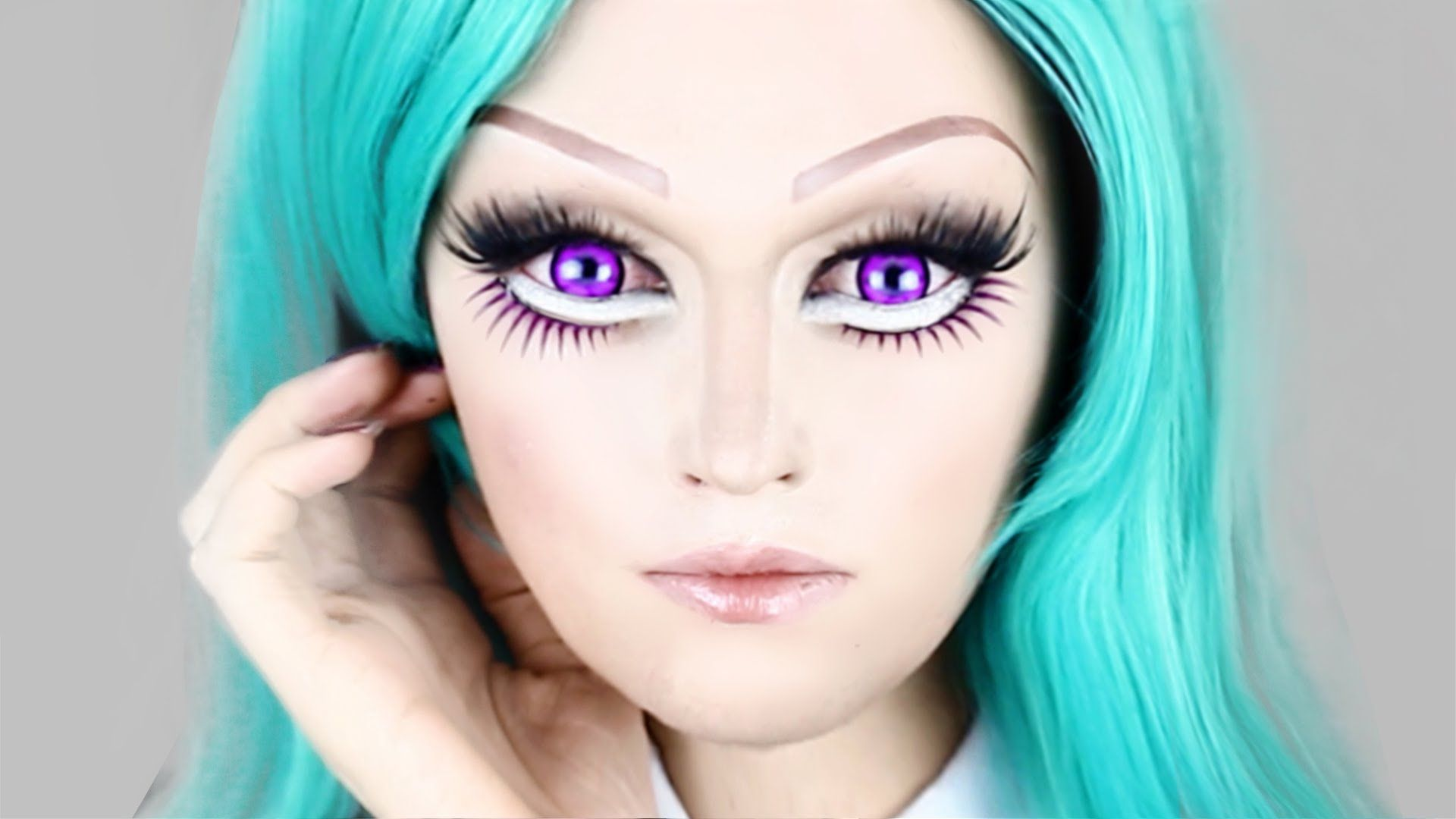 Anime makeup maxresdefaultg teal haircandy hair candy real life anime girl makeup tutorial im hoping to use some of these techniques for my comiccon costume baditri Choice Image